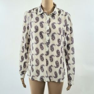 Ann Taylor Loft Womans Button Down Top Size Medium